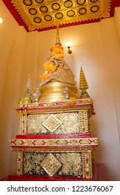 Phitsanulok, THAILAND - April 09, 2018: Golden pagoda in Wat Phra Sri Rattana Mahathat Temple, Name is Phra Buddha Chinnarat, Phitsanulok in Thailand.