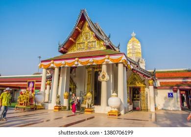 Phitsanulok, THAILAND - April 10, 2019: Wat Phra Sri Rattana Mahathat Temple, Name is Phra Buddha Chinnarat, Phitsanulok in Thailand.