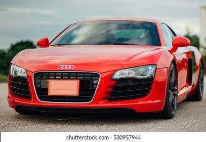 Phitsanulok, Thailand -  April 13 2015 : Audi R8 on the road in Phitsanulok, Thailand.