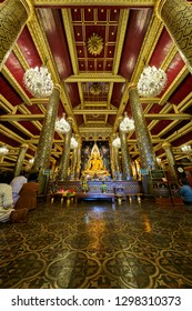 Phitsanulok, Thailand - January 29, 2019: Phra Buddha Chinarat, Buddha statue which is regarded as the most beautiful in Thailand, located in Wat Phra Si Rattana Mahathat Temple, Phitsanulok, Thailand