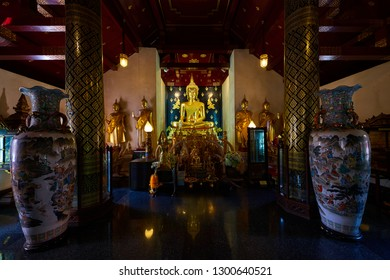 Phitsanulok, Thailand - January 29, 2019 : The Replica of Phra Sri Sadsada the principle and beauty Buddha Statue in temple of Wat Phra Si Rattana Mahathat, Phitsanulok