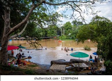 PHITSANULOK, THAILAND - MAY 6, 2018 : Khek river (Lam Nam khek), Phitsanulok Province, Thailand.