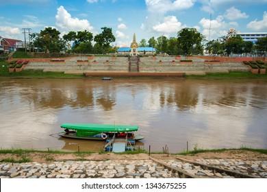 PHITSANULOK, THAILAND - MAY 6, 2018 : Nan River, Phitsanulok Province, Thailand.