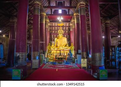PHITSANULOK, THAILAND - MAY 6, 2018 : Wat Ratchaburana, Phitsanulok Province, Thailand.