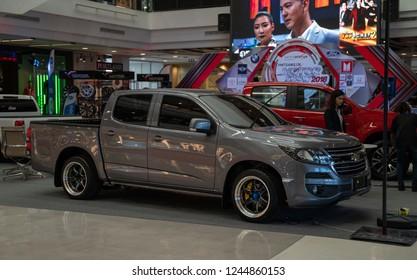 PHITSANULOK, THAILAND - NOVEMBER 30, 2018: Chevrolet Colorado  in Motorshow 2018 at Central Plaza Phitsanulok province, Thailand