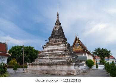 PHITSANULOK, THAILAND - OCTOBER 25, 2018:  Old pagoda in Wat Phar Sri Rattana Mahathat Temple, Phitsanulok - North of Thailand