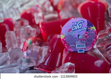 PHITSANULOK, THAILAND - OCTOBER 26, 2018:  Juice grapes DeeDo  at market in Phitsanulok province, Thailand