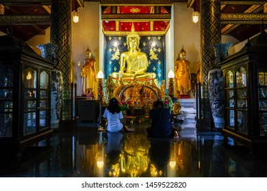 Phitsanulok,Thailand - July 22 2019 :  Buddhism or Buddhism is a religion that has a Buddha as a prophet.