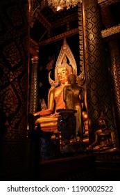 Phitsanulok,Thailand -MAY 18 2018:Buddha Chinnarat The most beautiful Buddha in Thailand. Phitsanulok Province.