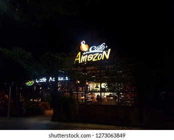 Phitsanulok,Thailand-December 26 : Café Amazon cafeteria and restaurant, New branch at Phitsanulok Province : Cafe Amazon coffee is a famous coffee company in Thailand.Soft focus,Select focu