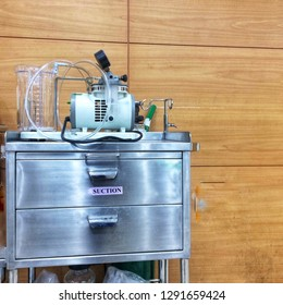 Phlegm suction machine in the hospital.