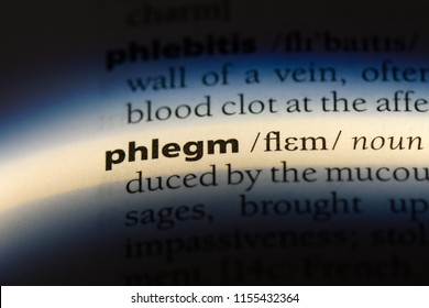 phlegm word in a dictionary. phlegm concept.