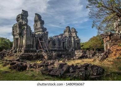 Phnom Bok temple on top of phnom bok in Siem Reap, Cambodia