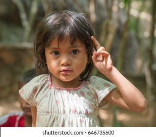PHNOM KULEN, CAMBODIA - JUN 19 : Unidentified kid at Preah Ang Thom Temple on May 19, 2016 in Phnom Kulen, Cambodia.