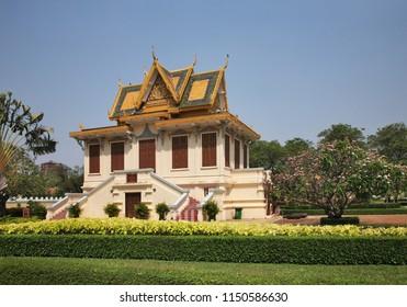 PHNOM PENH. CAMBODIA. 14 MARCH 2017 : Hor Samran Phirun (Hor Samritvimean) at Royal Palace (Preah Barum Reachea Veang Nei Preah Reacheanachak Kampuchea) in Phnom Penh. Cambodia