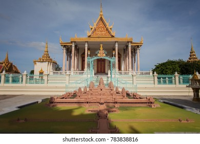 PHNOM PENH, CAMBODIA - DECEMBER 25 2017: Temple of the Emerald Buddha