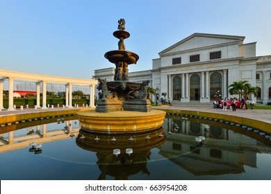 PHNOM PENH, CAMBODIA - MARCH 10, 2017. Koh Pich City Hall is the famous of exhibition and convention hall of Phnom Penh.