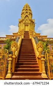 PHNOM PENH, CAMBODIA - MARCH 11, 2017. Wat Ounalom in Phnom Penh, Cambodia.