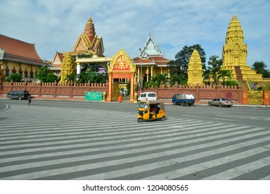 Phnom Penh; Kingdom of Cambodia - august 20 2018 : the Royal Palace