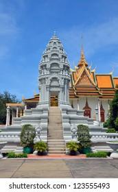 PHNOM PENH � NOVEMBER 14: Stupa of Princess Kantha Bopha on November 14, 2012 in Phnom Penh. Stupa of Princess Kantha Bopha was built in 1960.She was a daughter of the former King Sihanouk.
