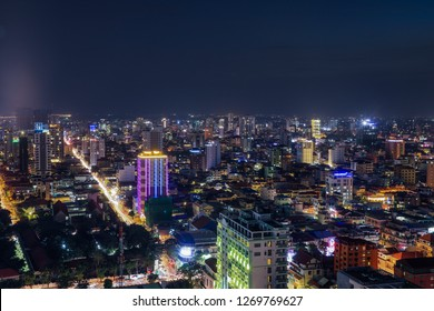 Phnom Penh Overview at Nighttime