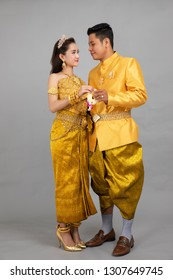 Phnompenh - Cambodia - December 28 2018 : photo for couple prepare to wedding at water festival on April