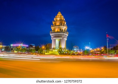 PhnomPenh city, Cambodia - May 2015 - Independent Monument