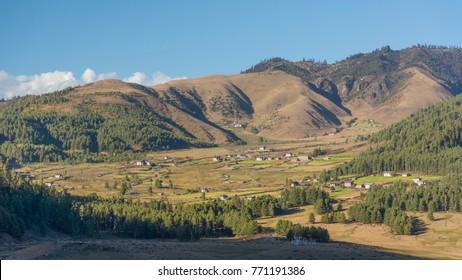 Phobjikha Valley. Kingdom of Bhutan. Asia