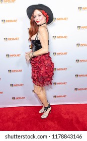 Phoebe Price attends INFOLIST PRE-EMMYS SOIREE  at Skybar at the Mondrian Hotel, West Hollywood, California on September 12th, 2018