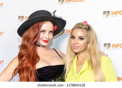 Phoebe Price, Marcela Iglesias attends INFOLIST PRE-EMMYS SOIREE  at Skybar at the Mondrian Hotel, West Hollywood, California on September 12th, 2018