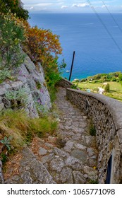 The Phoenician Steps (La Scala Fenicia) of Capri, Italy.