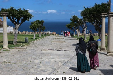 Phoenician Tombs, Tangier, Morocco. View of the Gibraltar Strait.