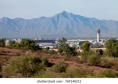 Phoenix airport as seen from Papago Park