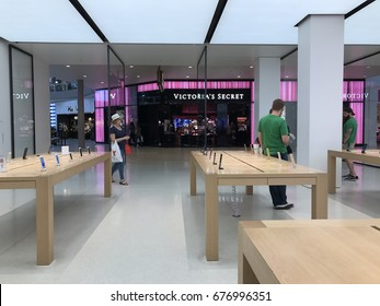 PHOENIX - APRIL 19: The inside of the newly remodeled Apple retail store located inside of Arrowhead Towne Center shopping mall in Phoenix, Arizona on April 19, 2017.