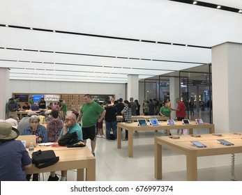 PHOENIX - APRIL 19: The interior of the newly remodeled Apple Store located at Arrowhead Shopping Center in Phoenix, Arizona on April 19, 2017.