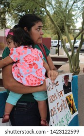 Phoenix, Ariz. / US - August 19, 2013: Laura Torres talks about her husband, detained in federal immigration raids, hoping to prevent his deportation and reunite the family.