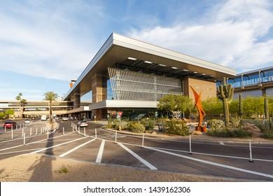Phoenix, Arizona – April 8, 2019: Terminal 3 at Phoenix Sky Harbor airport (PHX) in the United States.