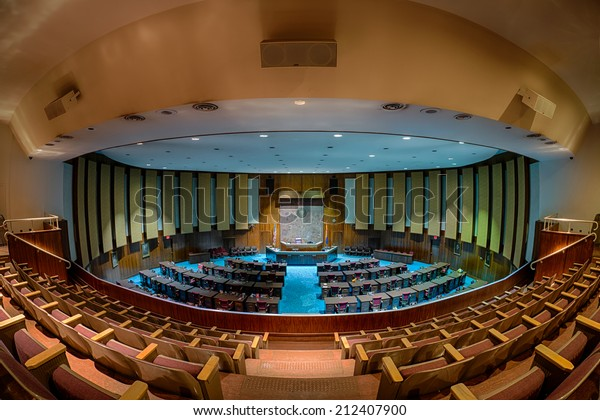PHOENIX, ARIZONA - AUGUST 6: House of Representatives chamber from the balcony on August 6, 2014 in Phoenix, Arizona