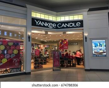 PHOENIX, ARIZONA, JULY 1, 2017: Yankee Candle Retail Store