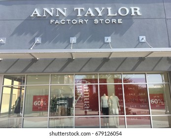 PHOENIX, ARIZONA, JULY 15, 2017: Ann Taylor Factory Store