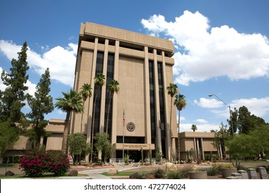 PHOENIX, ARIZONA - JUNE 11, 2016: Arizona State Capitol Executive Tower complex which houses the governor's office was sold in 2009 in a real estate transaction to raise money for the state budget.
