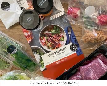 Phoenix, Arizona, June 25, 2019: Amazon Meal Kit