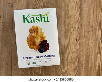 Phoenix, Arizona, May 31, 2019: Box of Kashi Brand Cereal