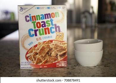 PHOENIX, ARIZONA, SEPT 3, 2017: Cinnamon Toast Crunch