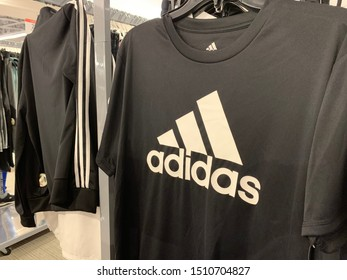Phoenix, Arizona, September 8, 2019: Adidas Logo on a T-shirt