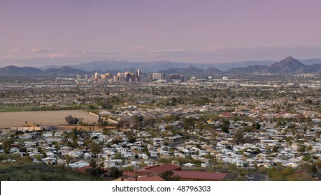 Phoenix Arizona Skyline and Valley