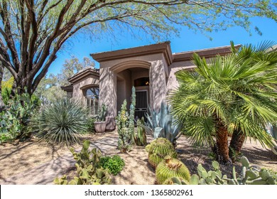 Phoenix Arizona southwest style home with lots of trees