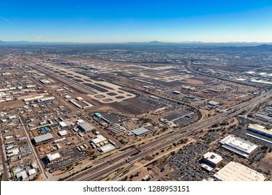 Phoenix, Arizona USA 01-19-2019 Government shutdown continues, TSA absences cause airport delays..