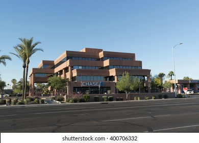 Phoenix, Arizona, USA - April 02, 2016: local Chase Bank office in Phoenix, Arizona, US. Chase is the U.S. Consumer and Commercial Banking Business of JPMorgan Chase III.