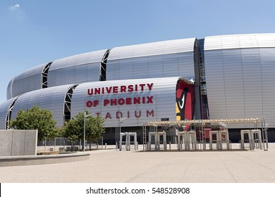 Phoenix, Arizona, USA - August 06, 2016: fans are going to pre season game of Arizona Cardinals at the University of Phoenix Stadium.